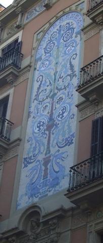 Palota mozaikdíszítéssel