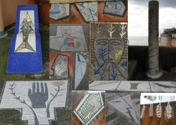 Kortárs mozaik döbbenetes díszletben