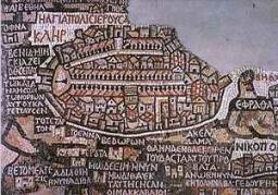 A madabai mozaiktérkép utat mutatott Jeruzsálemben